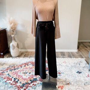 Wide Leg Tie Front Pants